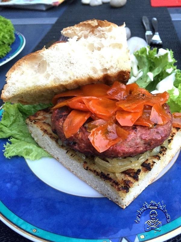 Serviervorschlag für Venezianischen Burger