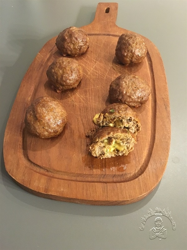 Meatballs mit Jalapeño Käsefüllung