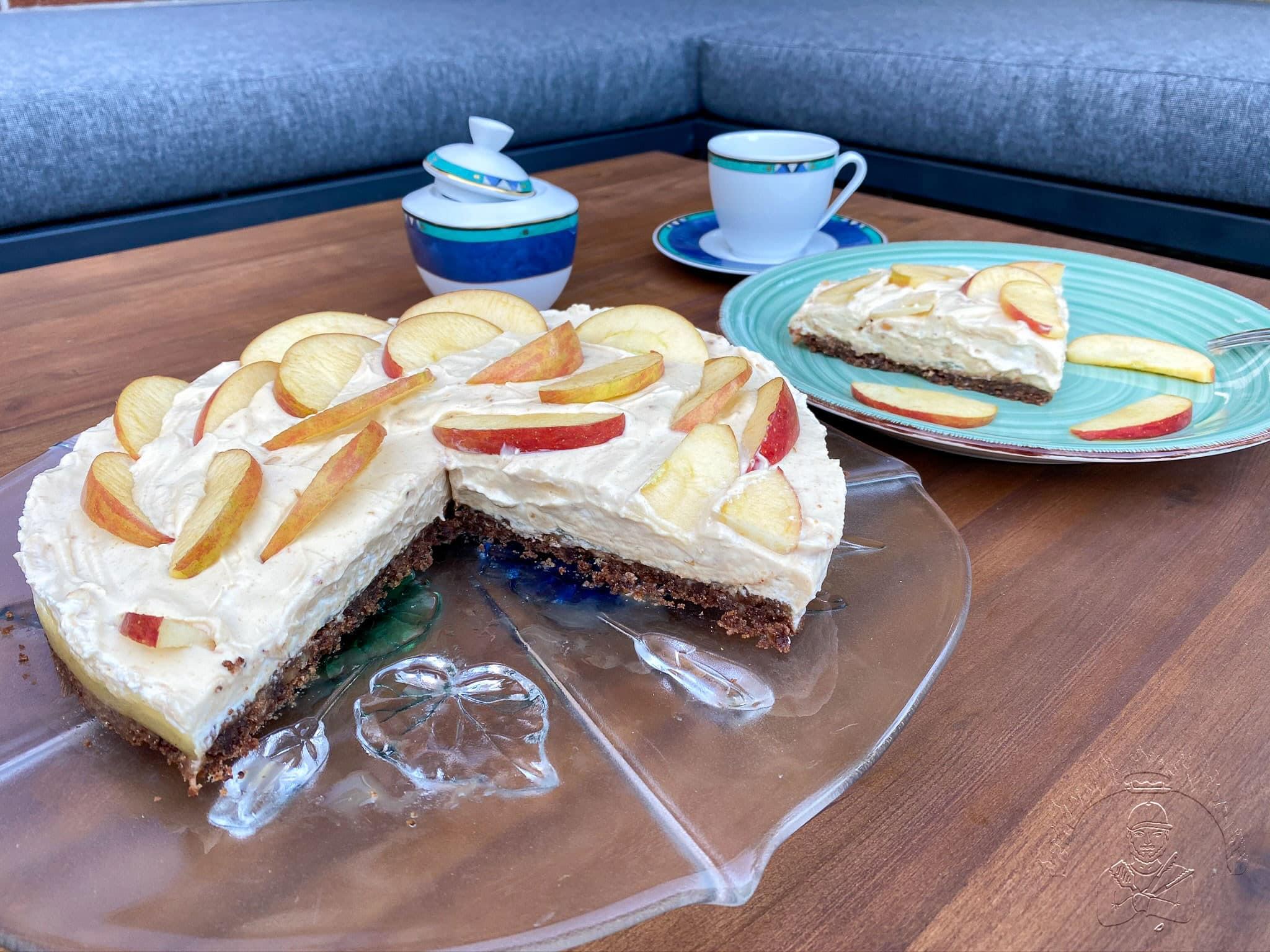 Erdnussbutter-Apfel-Kuchen